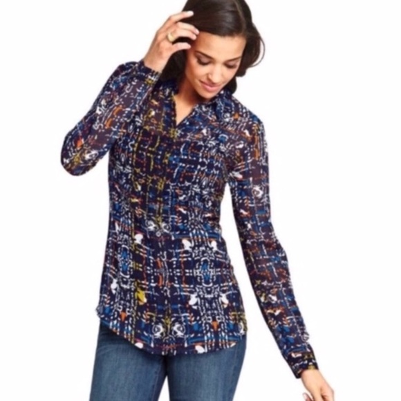 CAbi Tops - Cabi Festival Long Sleeve Blouse Style# 129